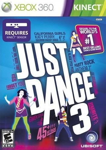 Face avant du boxart du jeu Just Dance 3 (Etats-Unis) sur Microsoft Xbox 360