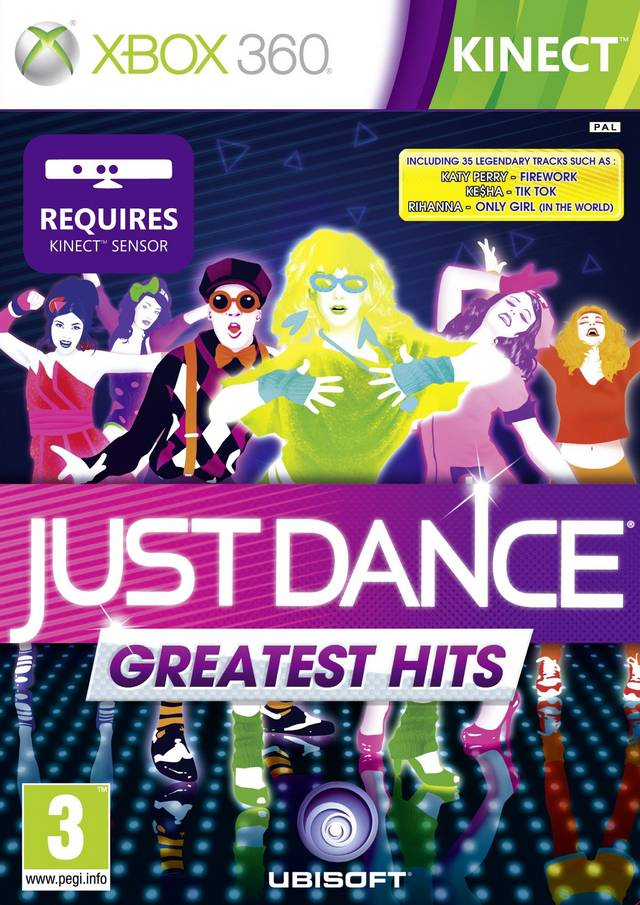 Face avant du boxart du jeu Just Dance - Greatest Hits (Europe) sur Microsoft Xbox 360