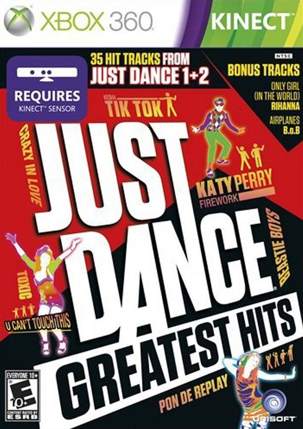 Face avant du boxart du jeu Just Dance - Greatest Hits (Etats-Unis) sur Microsoft Xbox 360