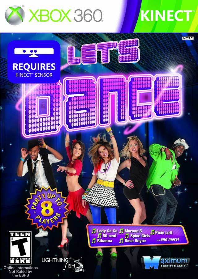 Face avant du boxart du jeu Let's Dance (Etats-Unis) sur Microsoft Xbox 360