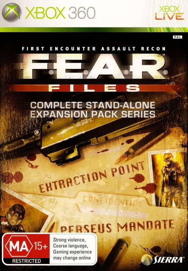 Face avant du boxart du jeu F.E.A.R. Files (Australie) sur Microsoft Xbox 360
