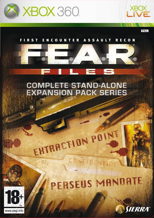 Face avant du boxart du jeu F.E.A.R. Files (Europe) sur Microsoft Xbox 360