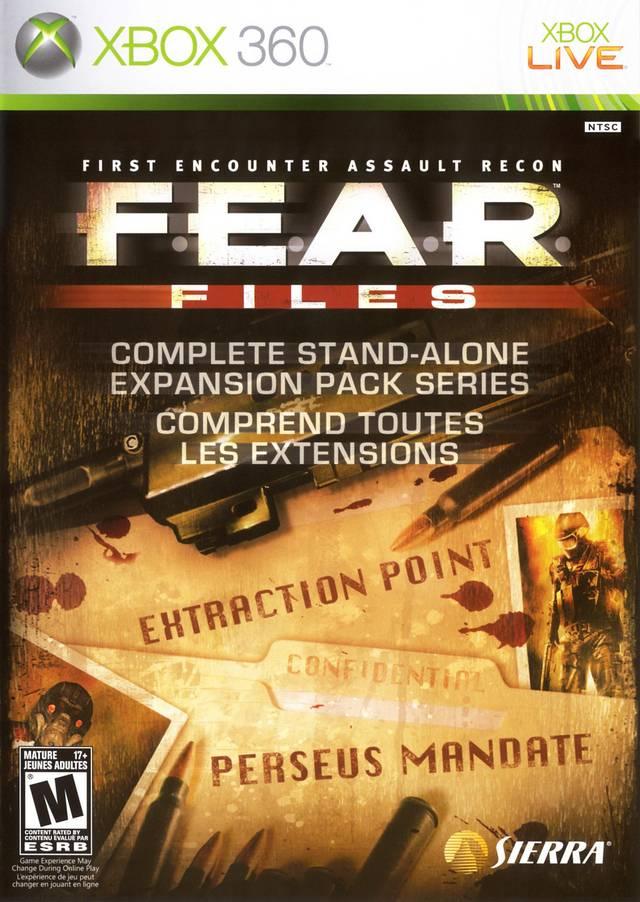 Face avant du boxart du jeu F.E.A.R. Files (Etats-Unis) sur Microsoft Xbox 360