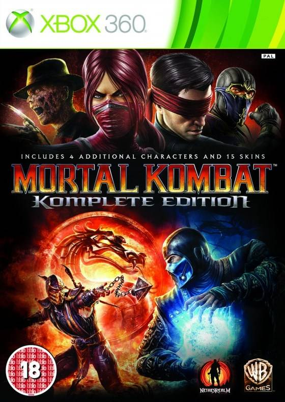 Face avant du boxart du jeu Mortal Kombat Komplete Edition (Europe) sur Microsoft Xbox 360
