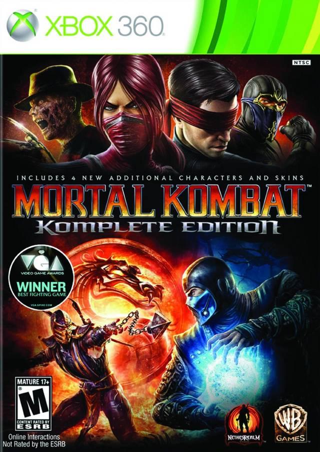 Face avant du boxart du jeu Mortal Kombat Komplete Edition (Etats-Unis) sur Microsoft Xbox 360