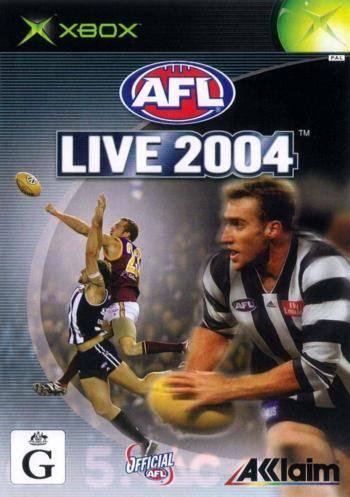Face avant du boxart du jeu AFL Live 2004 (Australie) sur Microsoft Xbox