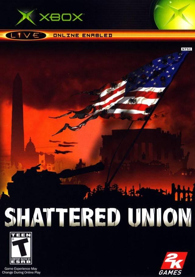 Face avant du boxart du jeu Shattered Union (Etats-Unis) sur Microsoft Xbox