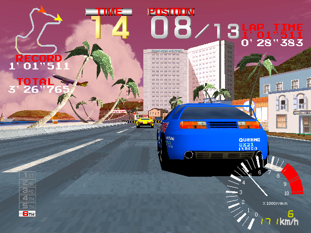 Image in-game du jeu Ridge Racer sur Vivanonno