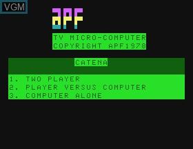 Image de l'ecran titre du jeu Catena sur APF Electronics Inc. APF-MP1000