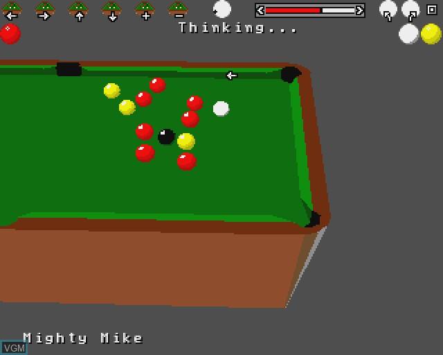 Image in-game du jeu 3D Pool sur Commodore Amiga