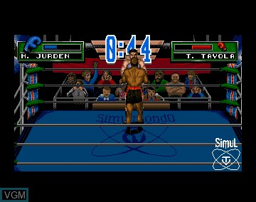 Image in-game du jeu 3D World Boxing sur Commodore Amiga