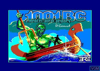 Image de l'ecran titre du jeu 1001 BC sur Amstrad CPC