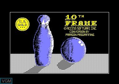 Image de l'ecran titre du jeu 10th Frame sur Amstrad CPC