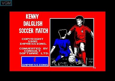 Image de l'ecran titre du jeu Kenny Dalglish Soccer Match sur Amstrad CPC