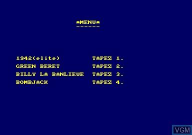 Image de l'ecran titre du jeu 1942 & Billy La Banlieue & Bombjack & Green Beret sur Amstrad CPC
