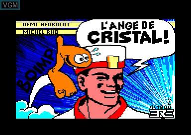 Image de l'ecran titre du jeu Crafton et Xunk - L'ange de Cristal sur Amstrad CPC