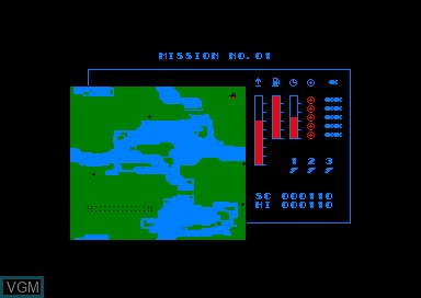 Image de l'ecran titre du jeu Tornado Low Level sur Amstrad CPC