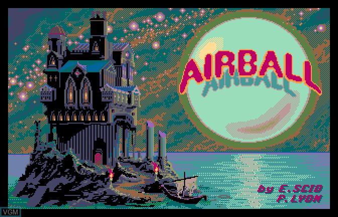 Image de l'ecran titre du jeu Airball sur Apple II GS