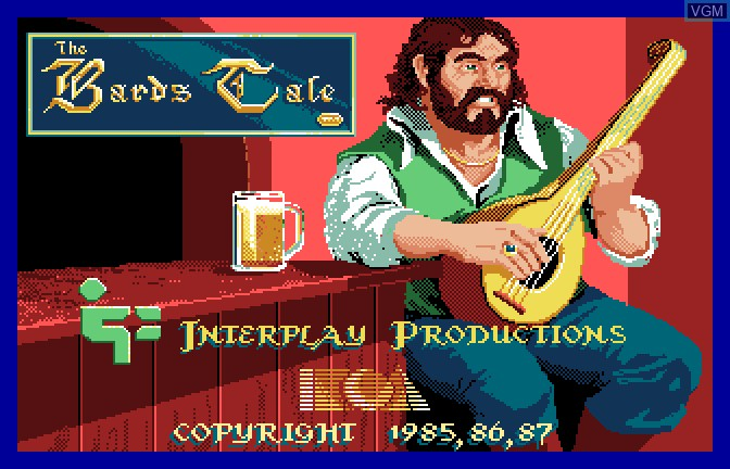 Image de l'ecran titre du jeu Bard's Tale - Tales of the Unknown, The sur Apple II GS