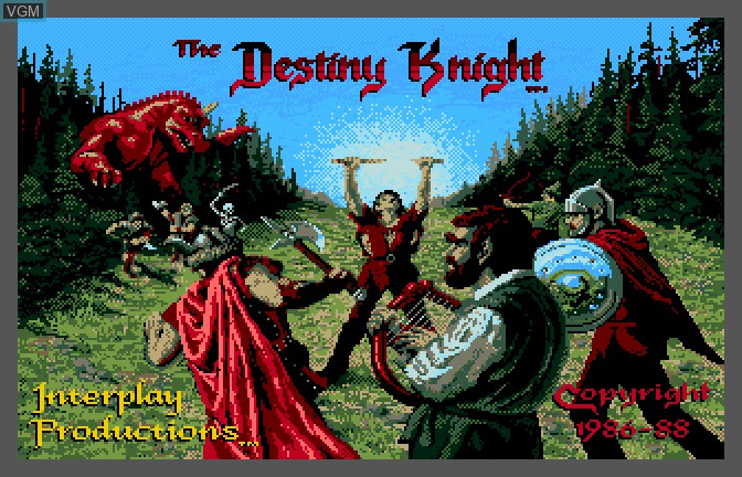 Image de l'ecran titre du jeu Bard's Tale II - The Destiny Knight, The sur Apple II GS