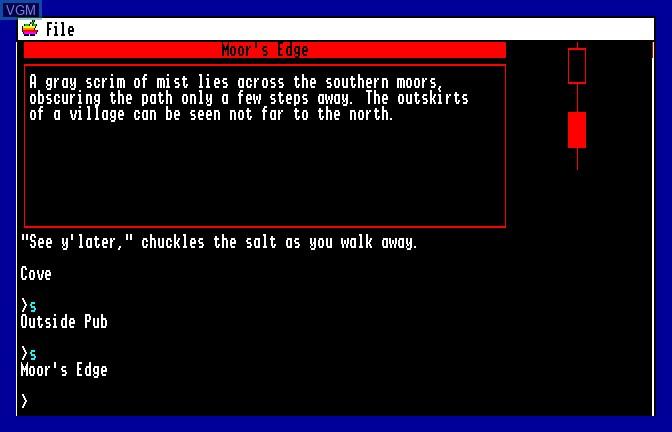 Image de l'ecran titre du jeu Beyond Zork sur Apple II GS