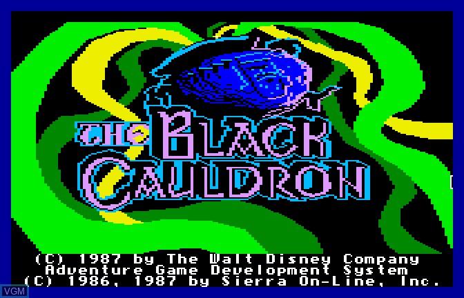 Image de l'ecran titre du jeu Black Cauldron, The sur Apple II GS