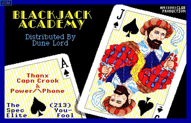 Image de l'ecran titre du jeu Blackjack Academy sur Apple II GS