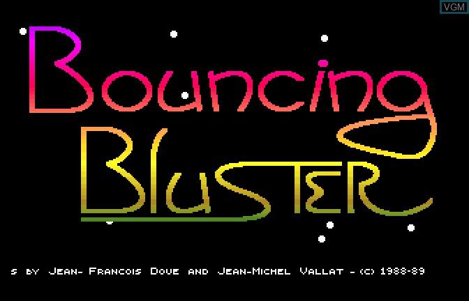 Image de l'ecran titre du jeu Bouncing Bluster sur Apple II GS