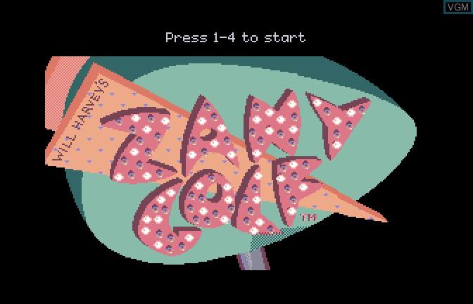 Image de l'ecran titre du jeu Zany golf sur Apple II GS