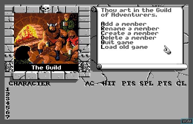 Image du menu du jeu Bard's Tale II - The Destiny Knight, The sur Apple II GS