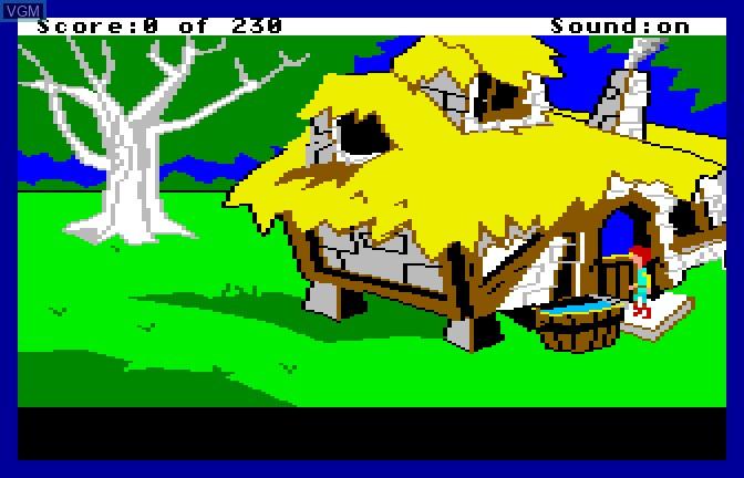 Image du menu du jeu Black Cauldron, The sur Apple II GS
