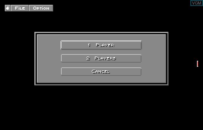 Image du menu du jeu Bouncing Bluster sur Apple II GS