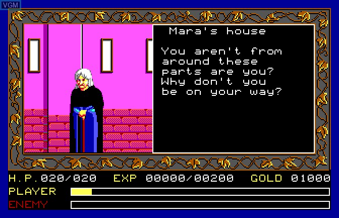 Image in-game du jeu Ancient Land of Ys sur Apple II GS