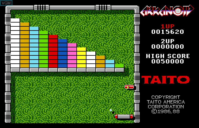 Image in-game du jeu Arkanoid sur Apple II GS