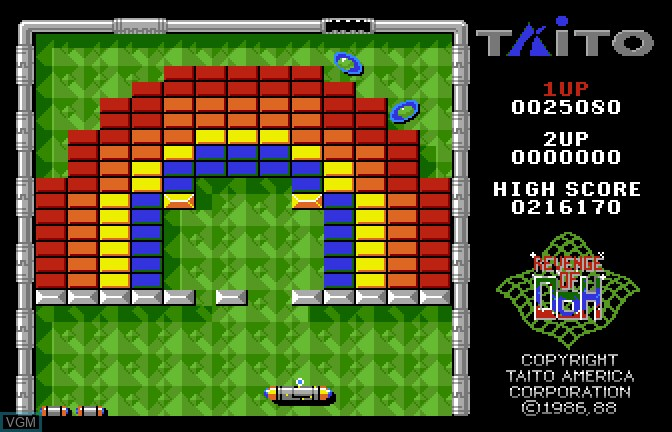 Image in-game du jeu Arkanoid II - Revenge of Doh sur Apple II GS