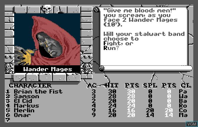Image in-game du jeu Bard's Tale II - The Destiny Knight, The sur Apple II GS