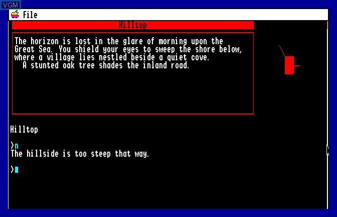 Image in-game du jeu Beyond Zork sur Apple II GS