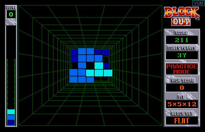 Image in-game du jeu Block Out sur Apple II GS