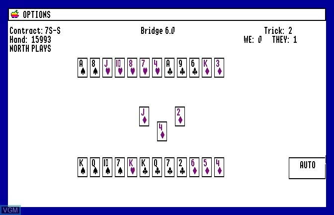 Image in-game du jeu Bridge 6.0 - Your Bid For Entertainment sur Apple II GS