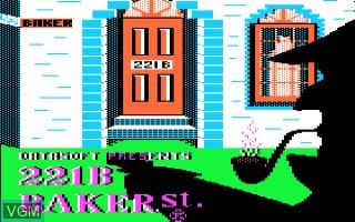 Image de l'ecran titre du jeu 221b Baker Street sur Apple II