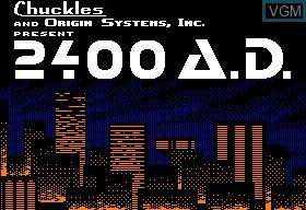 Image de l'ecran titre du jeu 2400 A.D. sur Apple II