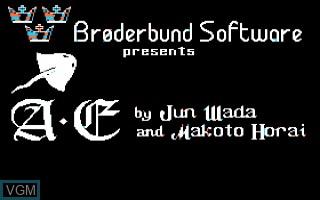 Image de l'ecran titre du jeu A-E sur Apple II