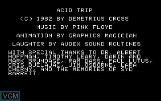 Image de l'ecran titre du jeu Acid Trap sur Apple II