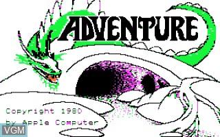 Image de l'ecran titre du jeu Adventure sur Apple II