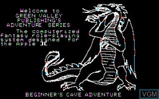 Image de l'ecran titre du jeu Adventure - Only The Fittest Shall Survive, The sur Apple II