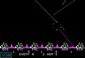 Image in-game du jeu ABM sur Apple II