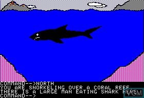 Image in-game du jeu Abyssal Zone, The sur Apple II