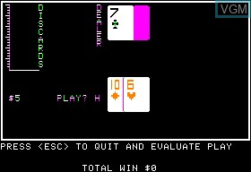 Image in-game du jeu Advanced Blackjack sur Apple II