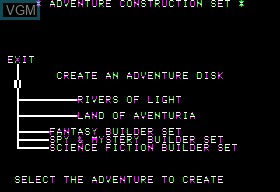 Image in-game du jeu Adventure Constuction Set sur Apple II