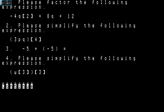 Algebra Mentor Test Generator